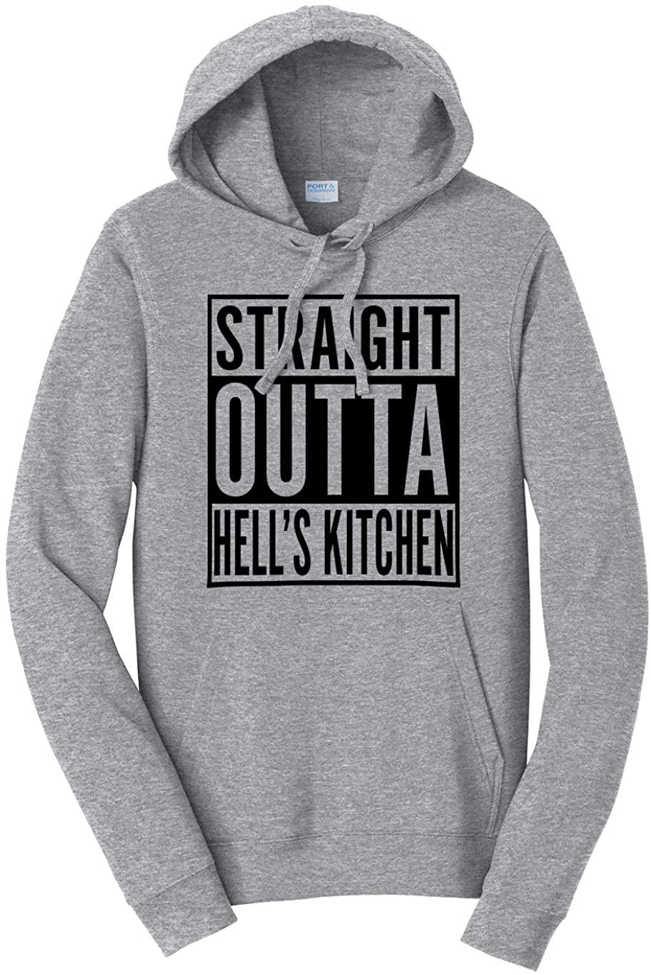 Tenacitee Unisex Straight Outta Hell's Kitchen Hooded Sweatshirt