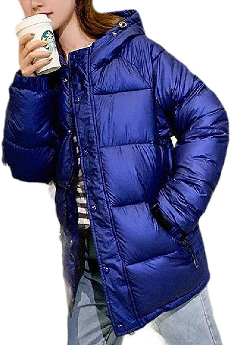 Jhsxydgy Womens Ultra Thicken Overcoat Solid Down Coats Outwear Short Down Jackets