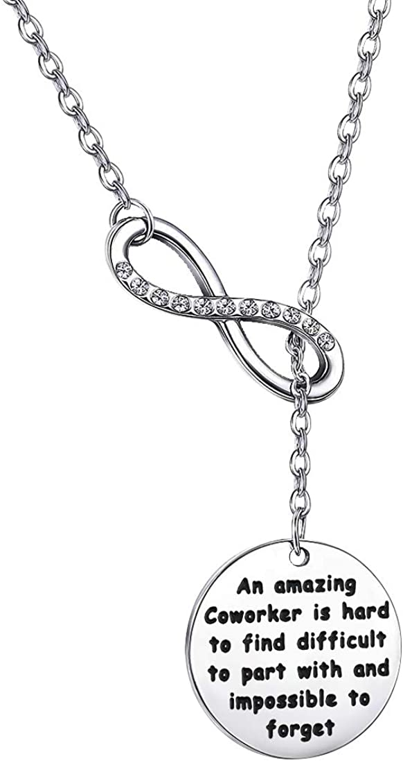 POTIY Coworker Retirement Gifts Coworker Leaving Y Necklace A Amazing Coworker is Hard to Find Going Away Gift Leaving Goodbye Friendship Memorial Necklace