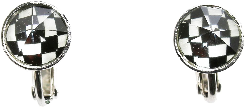 Tamarusan Earrings Handmade Simple Check Black And White Unisex