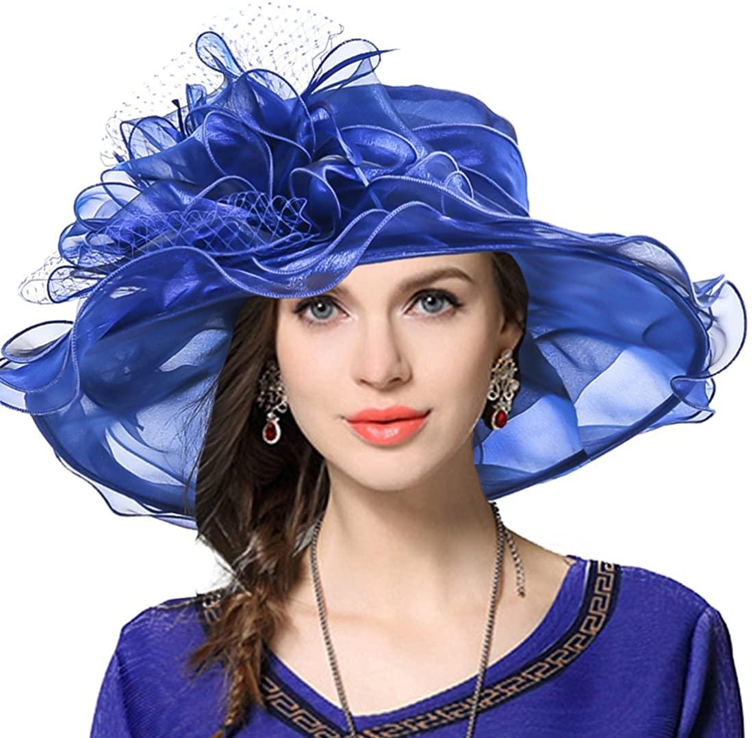 JESSE · RENA Women's Church Derby Dress Fascinator Bridal Cap British Tea Party Wedding Hat