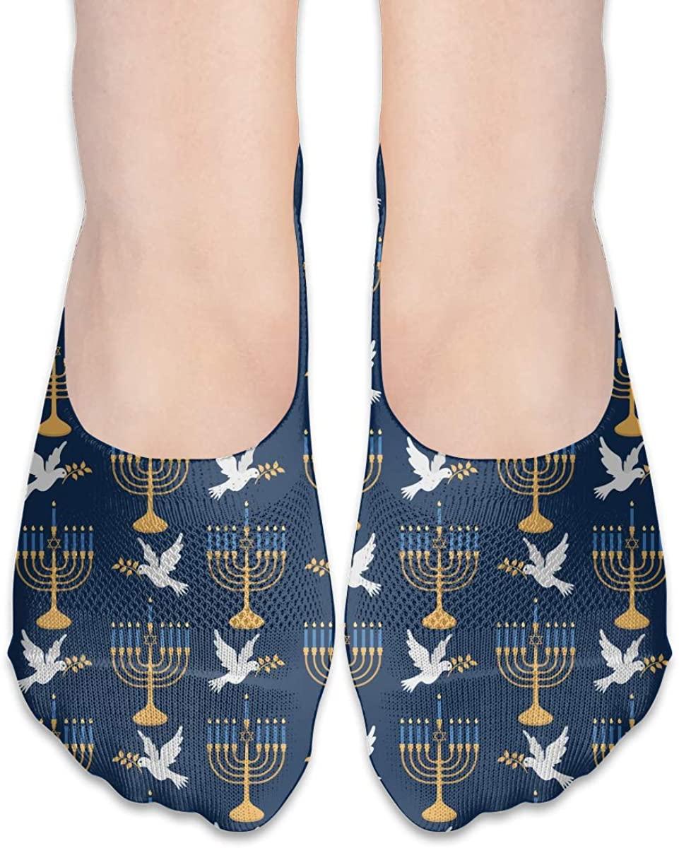 No Show Socks For Women Hanukkah Peace Pigeon Low Cut Sock Liners Invisible Socks
