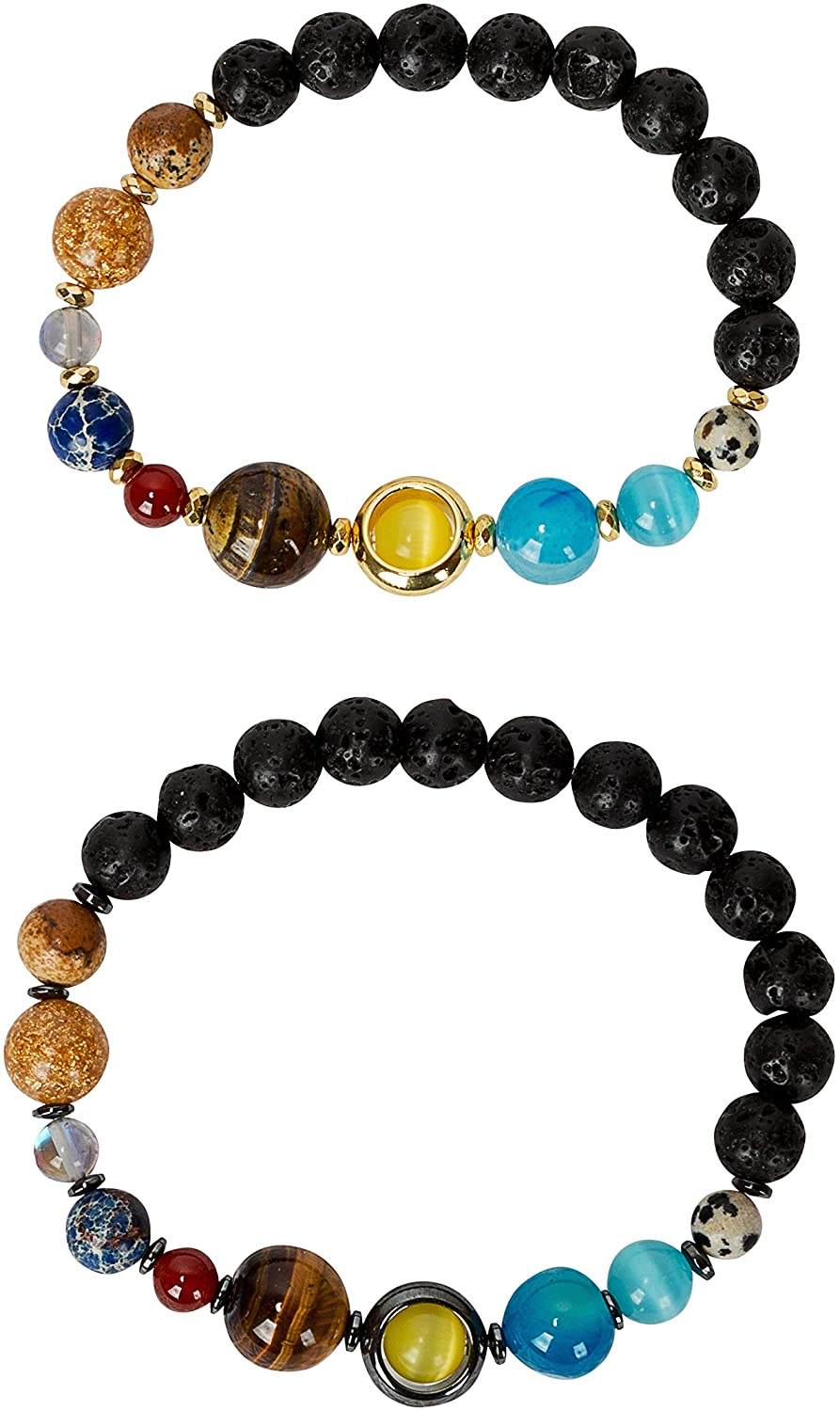 SPUNKYsoul New! His and Hers Couple Circle Distance Universe Bracelets Collection