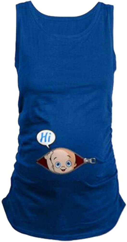 ManMan Maternity Funny Shirt Short Sleeve Pregnancy Tshirt Side Ruched Tee Top