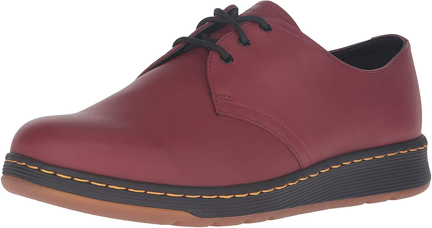 Dr. Martens Cavendish Oxford, Cherry Red Temperley, Womens 5/Mens 4