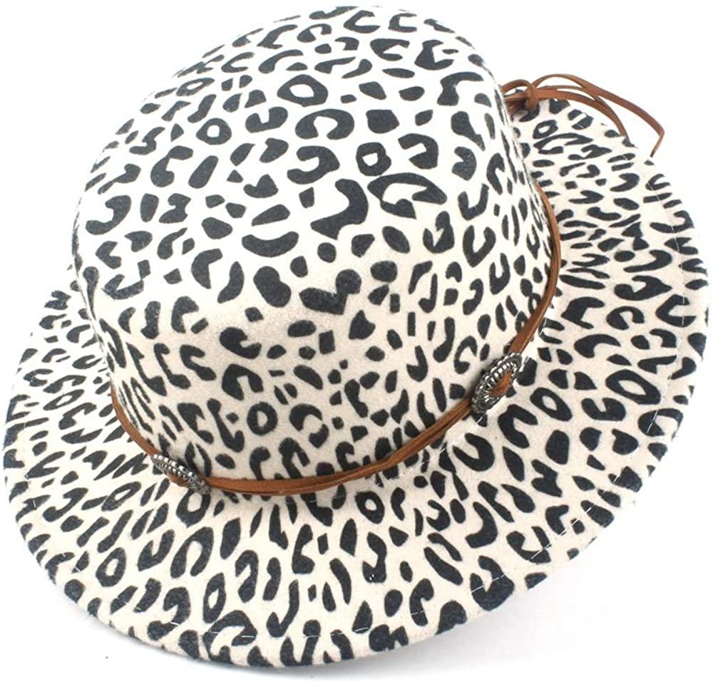 MADONG 2019 Autumn Winter New Flat Felt Jazz Wool Polyester Flat Top Hat Ladies Loose Fedora Hat Braided Winter Hat