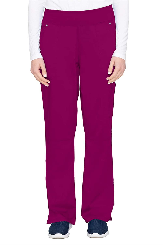 healing hands Purple Label Yoga Women's Tori 9133 5 Pocket Knit Waist Pant Wine- X-Small Tall