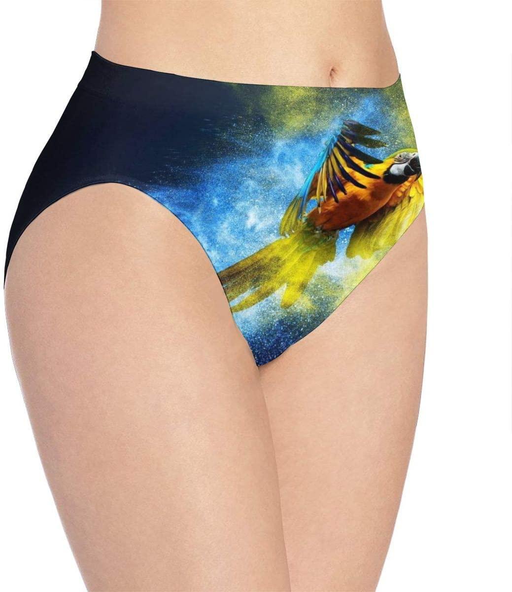Kjaoi 3D Print Soft Women's Underwear, Bird Parrot Fashion Flirty Sexy Lady's Panties Briefs