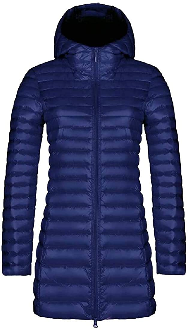 FERNMXZ Womens Lightweight Puffer Down Jacket Coat Packable Hooded Warm Casual Outerwear