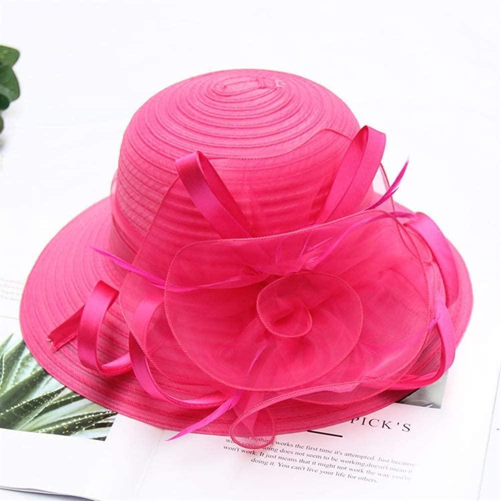 MADONG 2019 Miss Xia Ji Organza Flowers Temperament Fashion hat Sun Protection Beach Sun hat Collapsible Sun hat