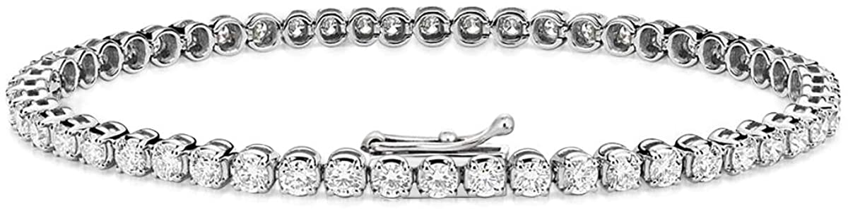 Lab Grown 1 Carat to 10 Carat Diamond Bracelet Made In USA IGI Certified 14K Gold SI1-SI2-FG Quality Lab Created Diamond Tennis Bracelets For Women