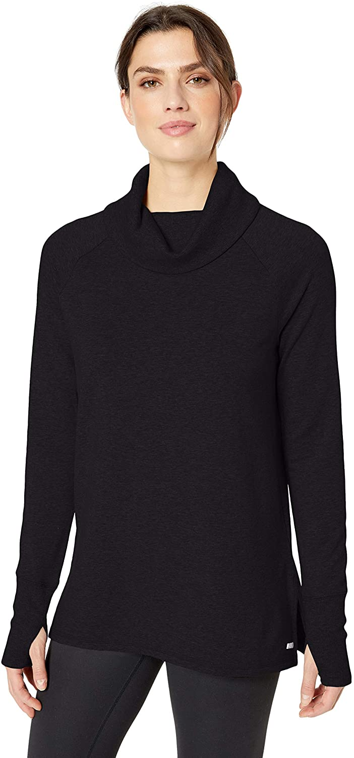 DHgate Essentials Women's Studio Terry Long-Sleeve Funnel-Neck Tunic