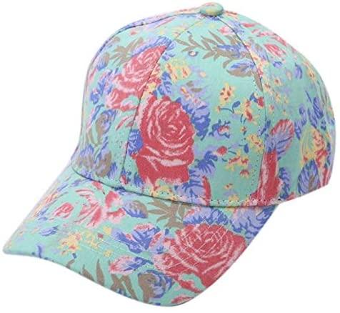 WKDYBD Hawaii Men Women Flower Baseball Cap Bohemian Sunscreen Cap Visor Hat