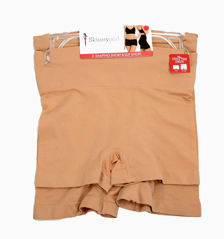 Skinnygirl by Bethenny Frankel, Shaping Short & Slip Short 2 Pack Nude Medium