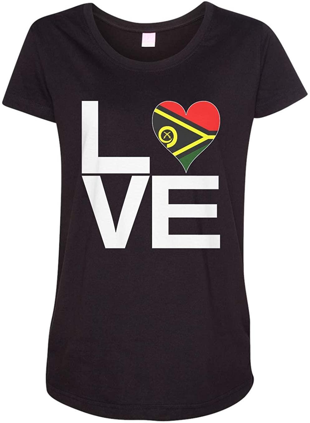 Tenacitee Ladies Love Block Vanuatu Heart Maternity Shirt
