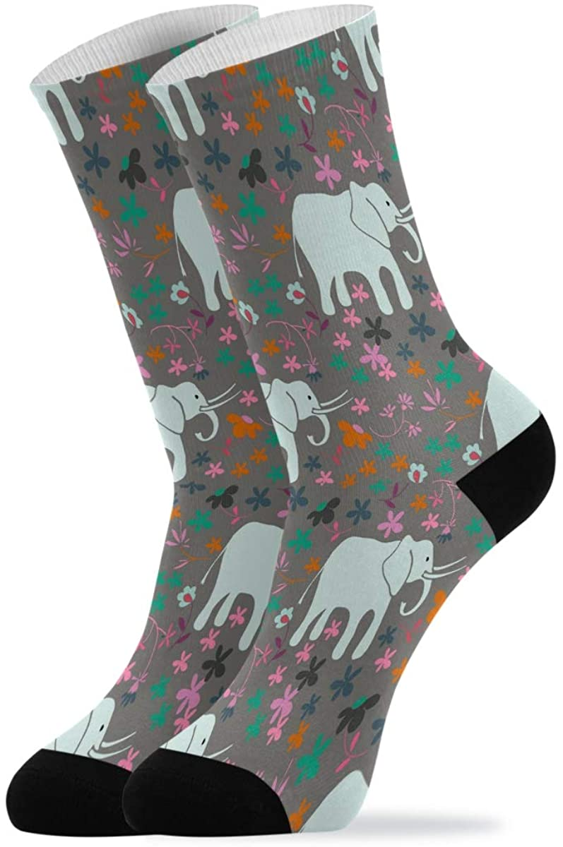 Quarter Socks Cute Mermaid Seahorse Crab Jellyfish Whale Crew Socks Mid Calf High Socks Women Men Dress Socks