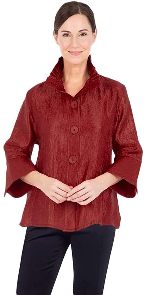 Damee Solid Shimmer Short Jacket - 4243