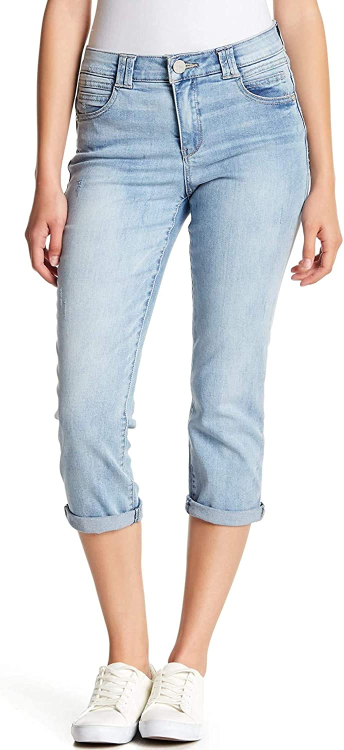 Democracy Light Cropped High Rise Petite Jeans, Light Blue