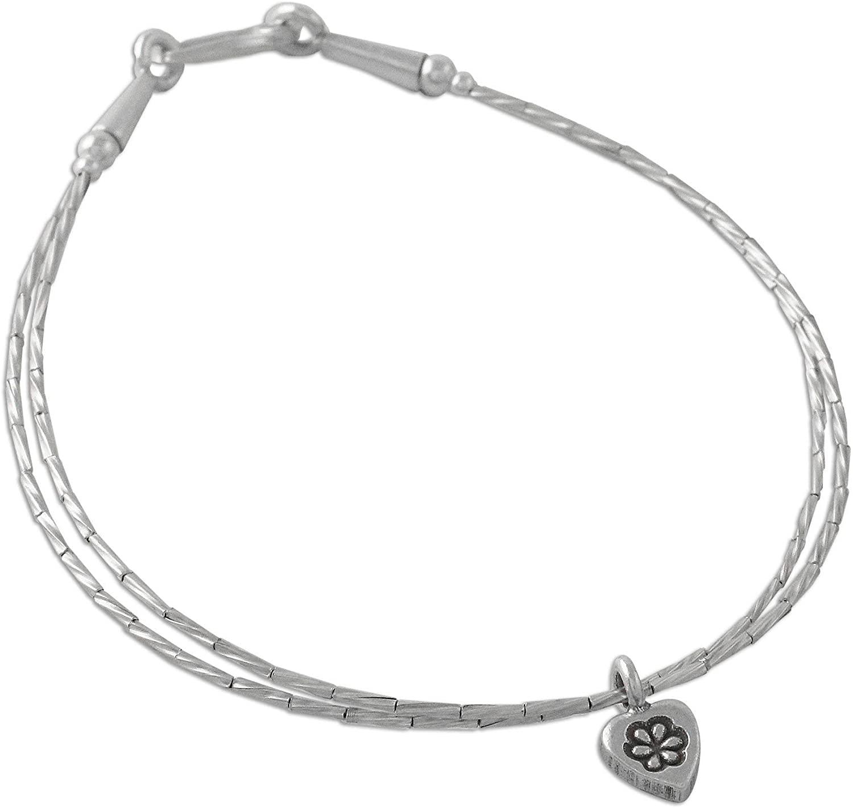 NOVICA .925 Sterling Silver Beaded Bracelet, 7.5