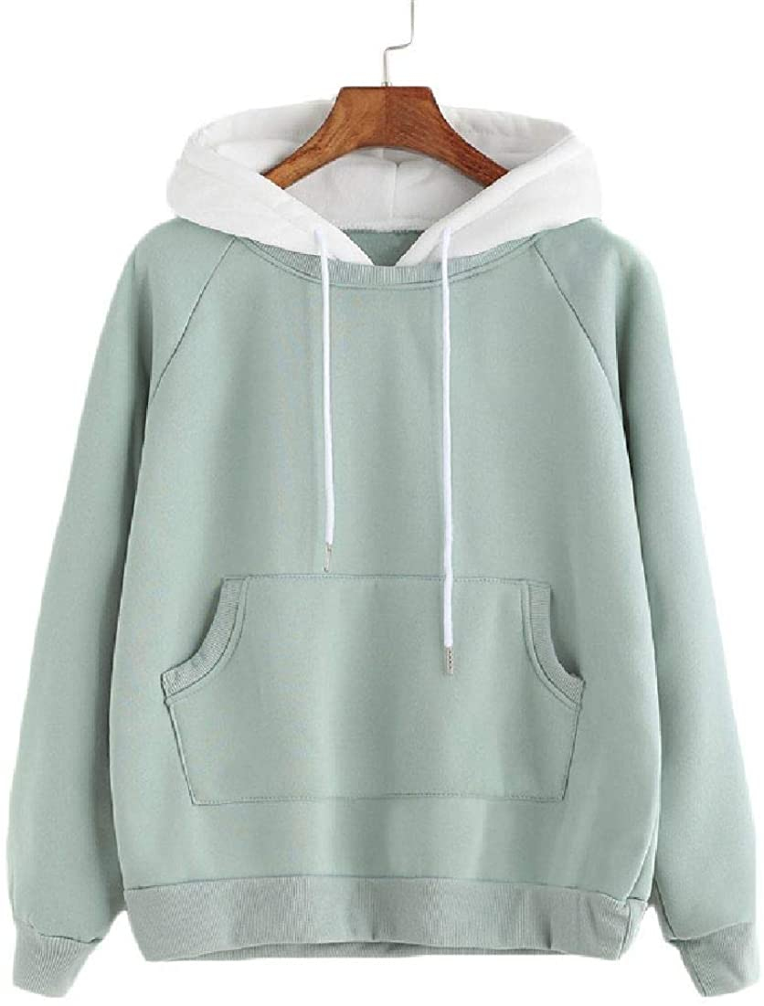 Wilngo Womens Fashion Long-Sleeve Hoodie Drawstring Pullover Hoodie with Pockets