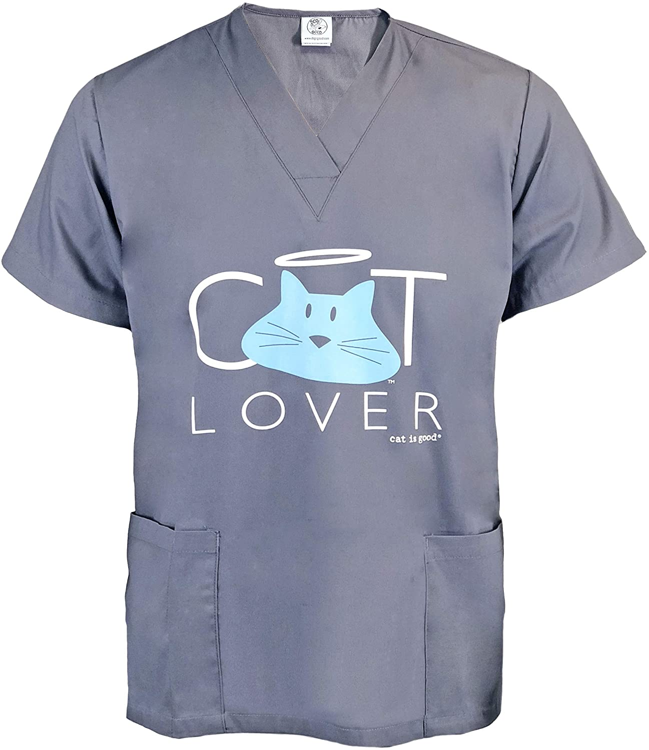 Dog is Good Scrub Top Cat Lover - Great Gift for Cat Lovers, Made with High Premium Materials, for Men and Women