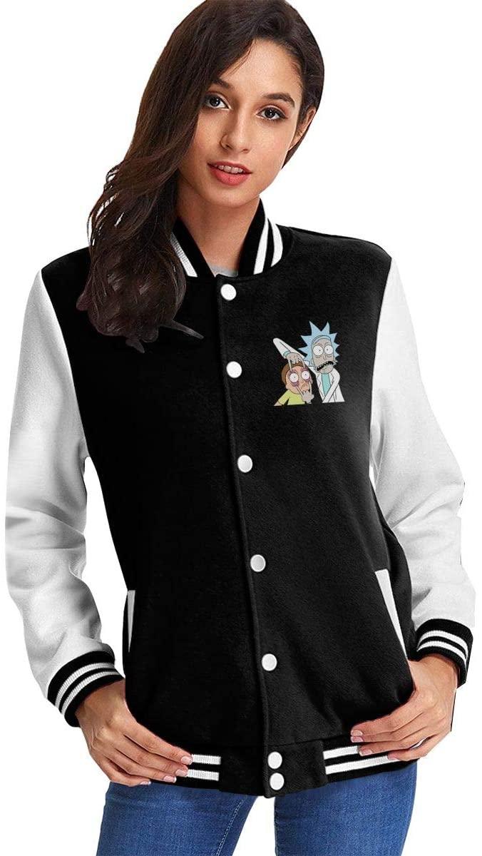 NOT Rick N Morty8 Women's Plus Velvet Baseball Uniform