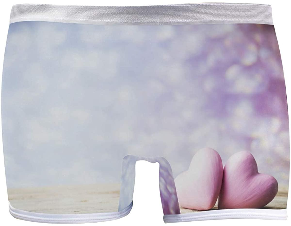 Womens Hipster Panties Underwear Amazing Heart Vintage Ladies Breathable Boxer Briefs Panty