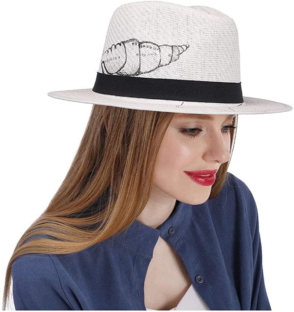 YWHY Fedora Summer Wide Brim Beach Cap for Women and Girls?Straw Sun Hat for Travel