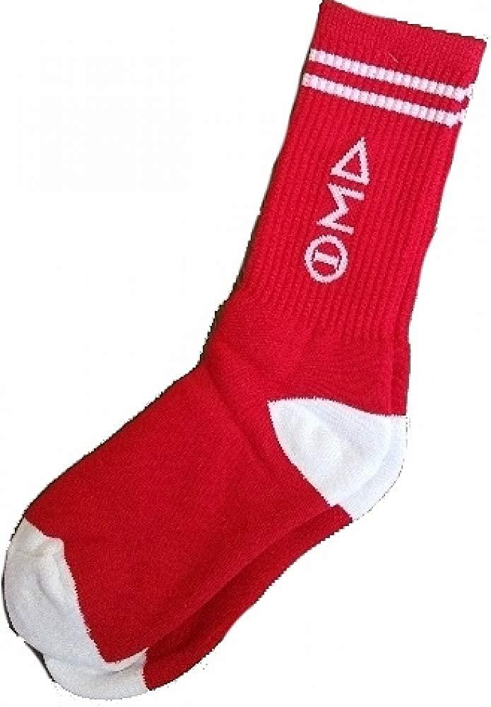 Buffalo Dallas Delta Sigma Theta Long Crew Socks [Red - Free Size]