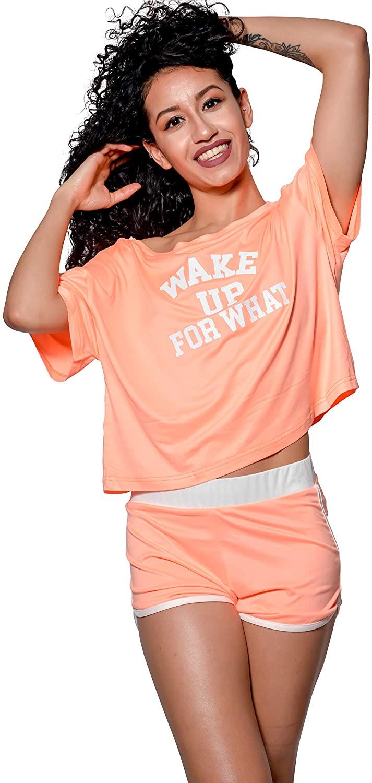 Lay-z Chic Women's Pajama Shirt Shorts Sleeve Top Night Shirt PJs Soft Sleepwear Comfortable Loungewear