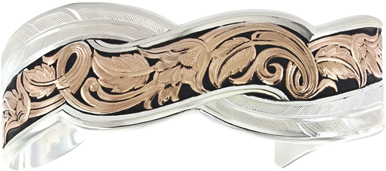 Montana Silversmiths Women's Two Tone Sweeping Cuff Bracelet - Bc3103rgbk
