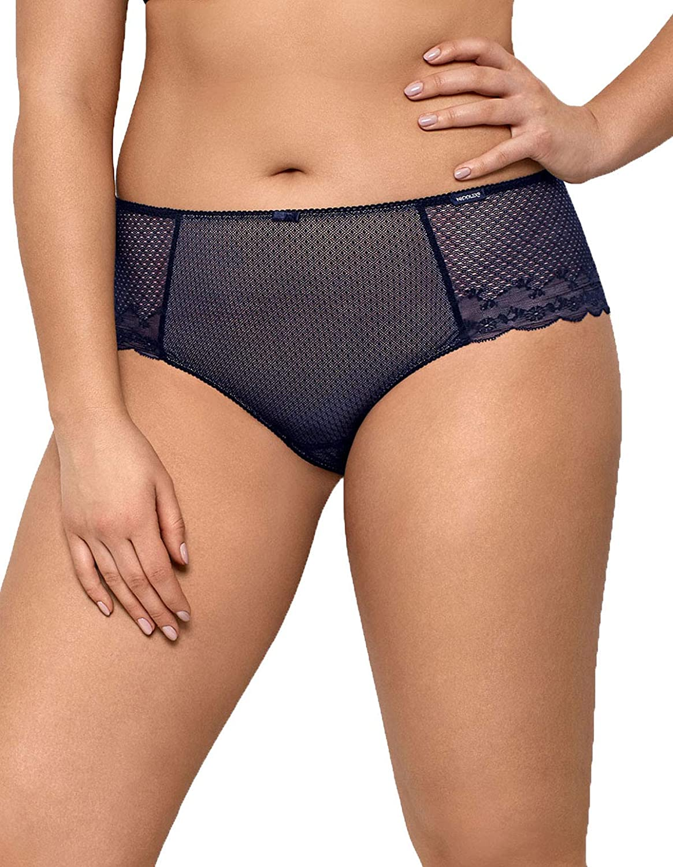 Nipplex Women's Kora Navy Blue and Nude Knickers Panty Full Brief