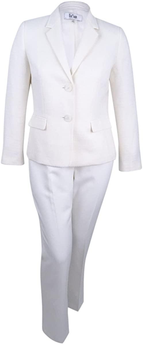 Le Suit Women's Tweed 2 Button Jacket Pant Suit
