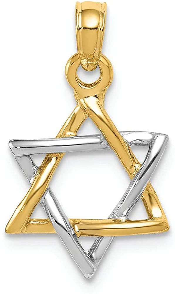 Finejewelers 14k Two-tone Gold Polished Star Of David Charm