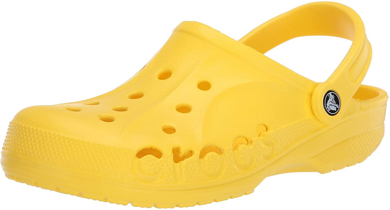 Crocs Baya Clog, Lemon, 12 US Women / 10 US Men M US