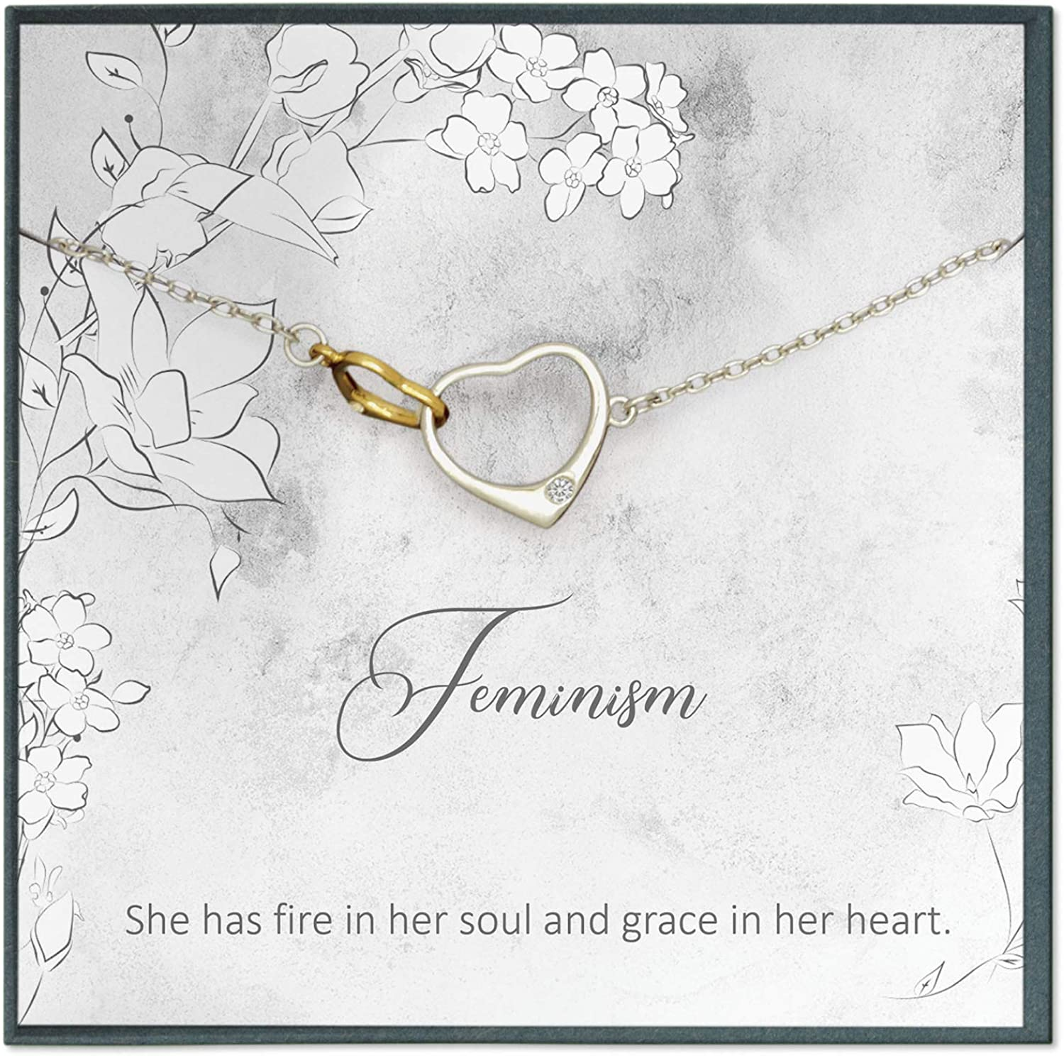 Grace of Pearl Feminism Quotes Jewelry Feminism Gifts Strong Women Quotes for Strong Woman Mindfulness Quotes