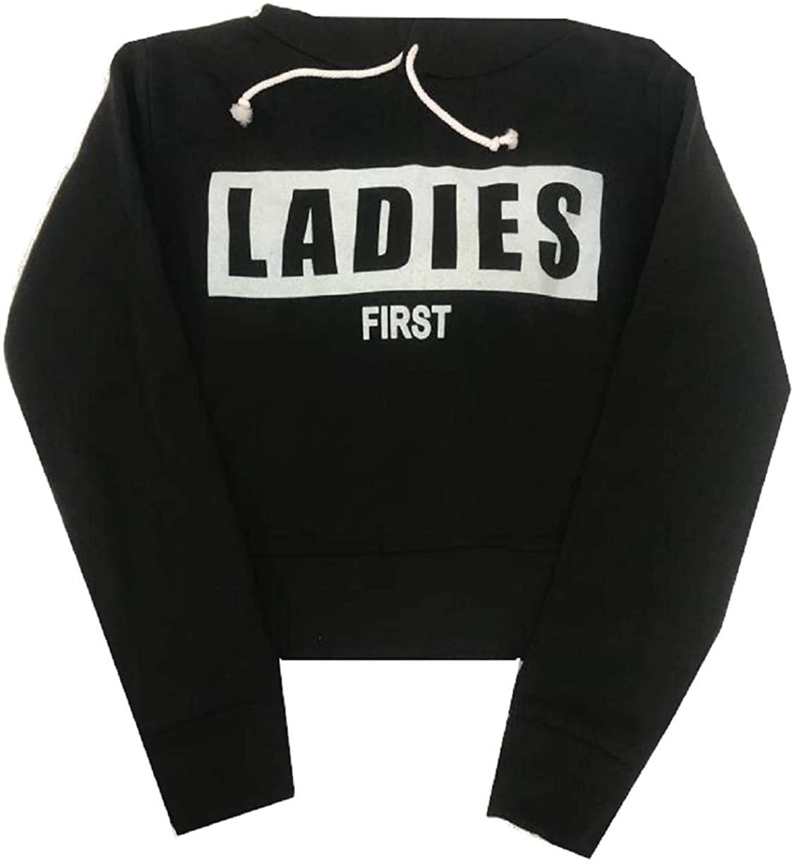 Womens Ladies First Fleece Hoodie Crop Top