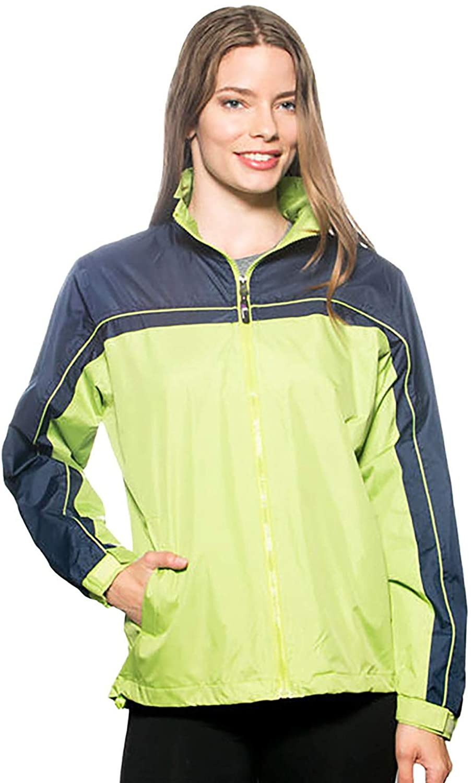 GEEK LIGHTING Women Waterproof Lightweight Rain Jacket Mesh Lining Hooded Outdoor Raincoat