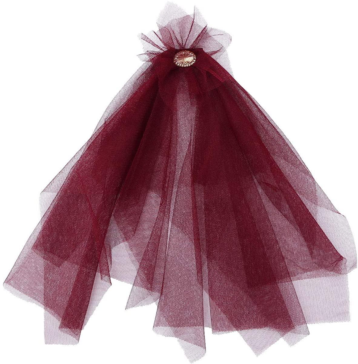 TiaoBug Gothic Victorian Ruffled Mesh Shoulder Epaulets with Rhinestone for Wedding Banquet
