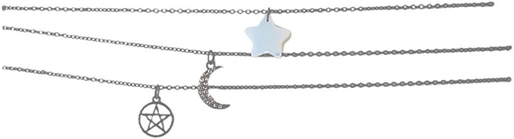 Lux Accessories Girls Black Velvet Suede White Opal Choker Set 3PC