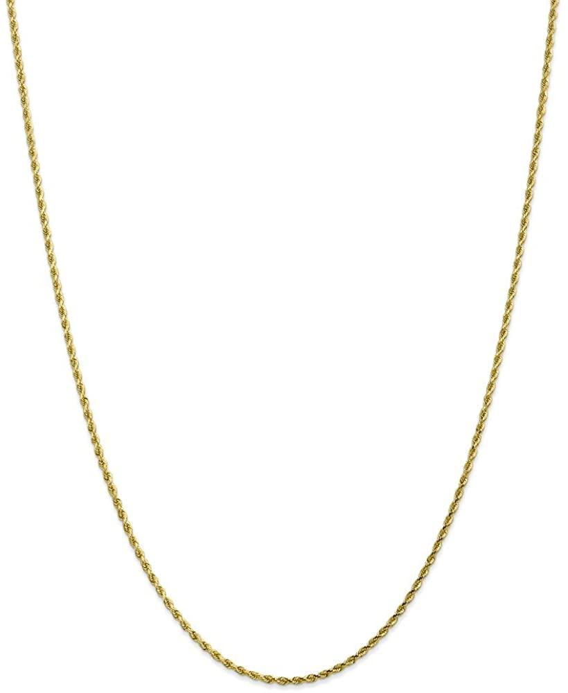 Beautiful Yellow gold 10K 10k 1.75m Diamond-cut Rope Chain