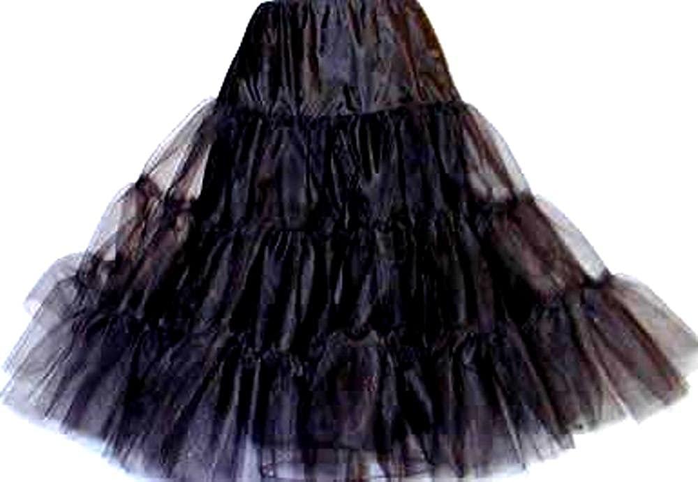 New Black Poodle Crinoline Skirt Bridal Petticoat Wedding Gown Slip (108DSPB)
