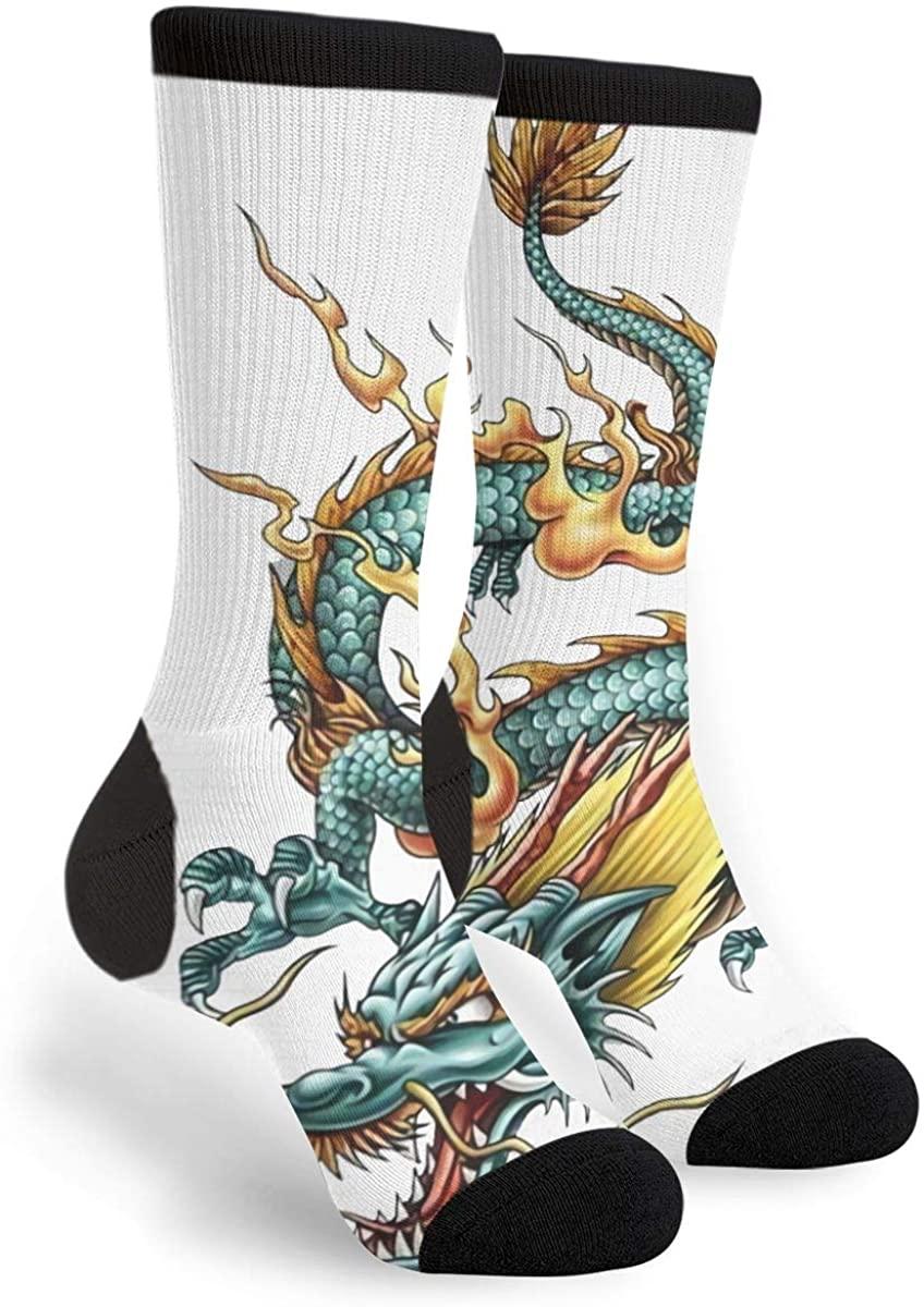 Dragons Of The Orient Women'S Men'S Crew Socks Casual Fun Dress Socks Long Cute Socks