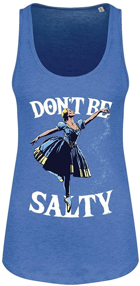 Grindstore Women's Don't Be Salty Floaty Tank Vest Heather Blue