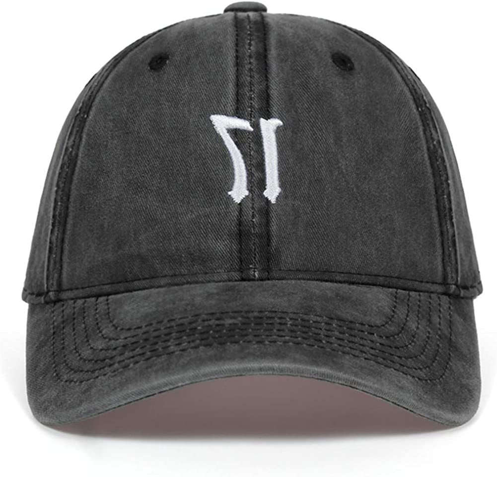 17 Letter Embroidery Washed Baseball Cap Casual Hat Snapback Hat Adjustable Cotton Dad Caps