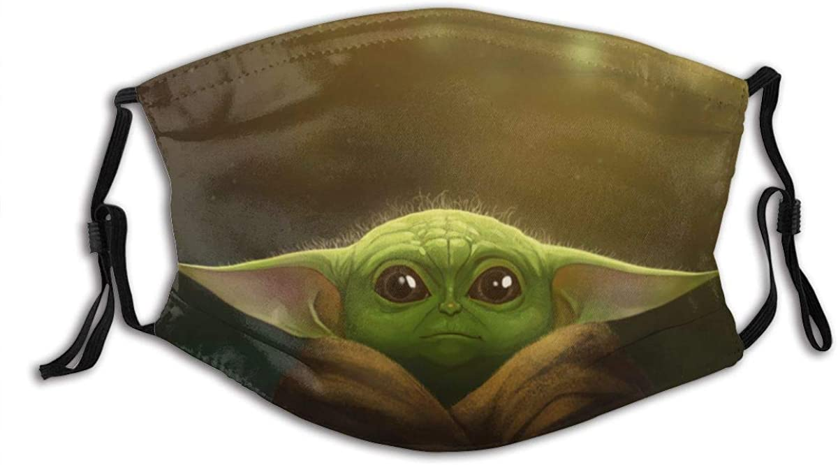 Star-Wars-Yoda Dust Mask-Reusable Filtered Cotton Comfortable, Breathable and Washable Black