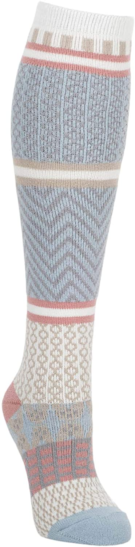 World's Softest Women's One Size Rachael Color Block Gallery Knit Knee-High Socks