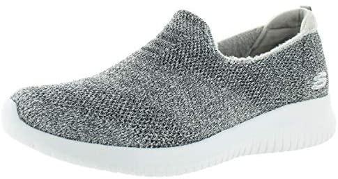 Skechers Womens Ultra Flex-Comfy Glimmer Metallic Slip On Walking Shoes