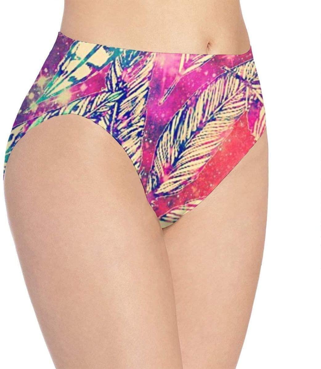 Falling Feathers Women's Briefs Underwear Printed Pattern Shorts