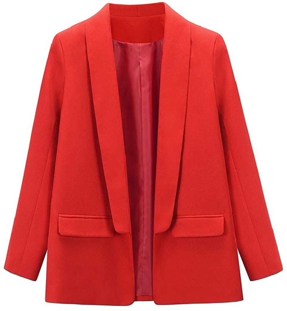 Doufine Womens Long-Sleeve Short Overcoat Fall Winter Slim Career Outwear